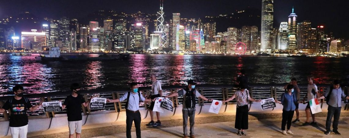 Human chain across Hong Kong expresses solidarity and determination say protesters