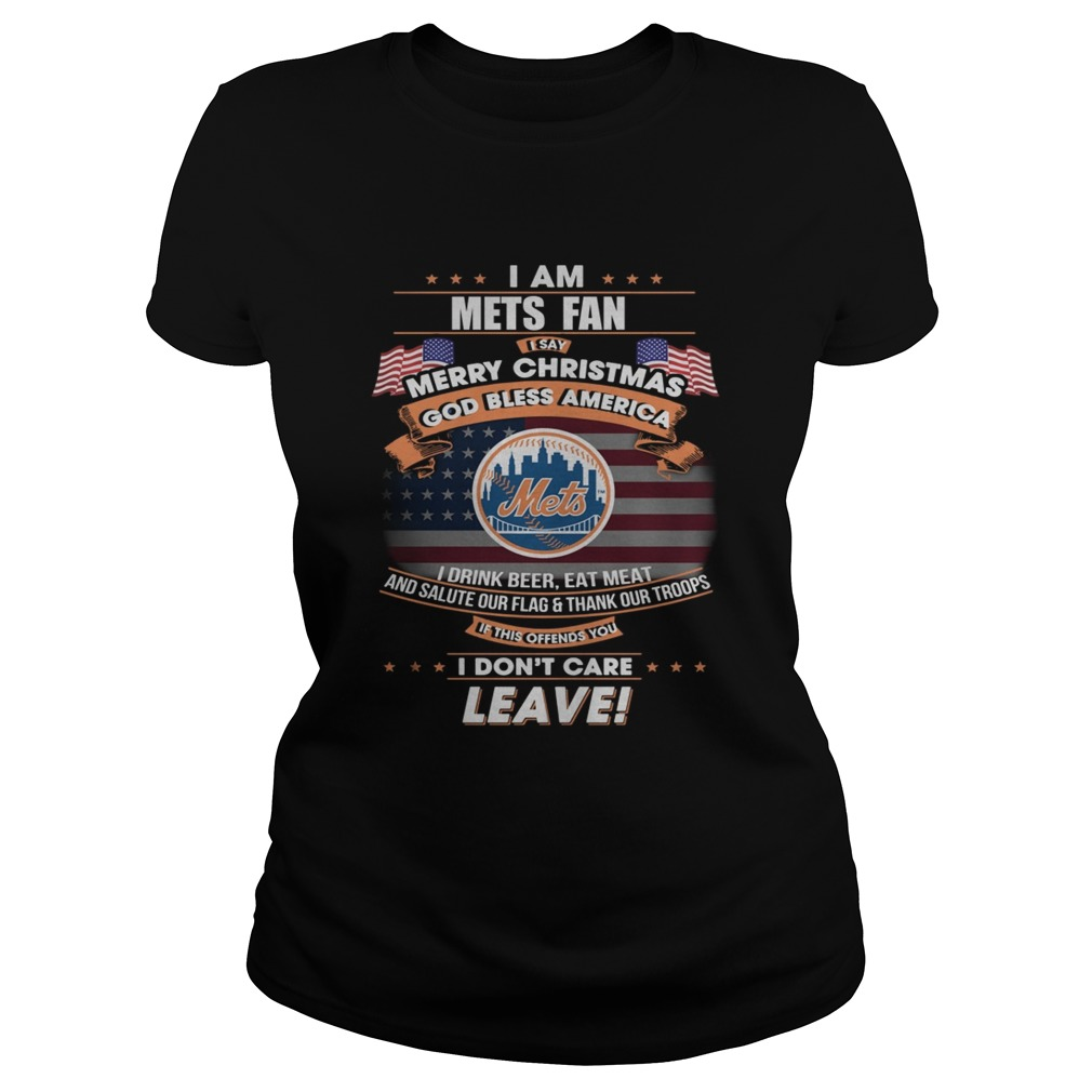 I am Mets fan I say Merry Christmas god bless America Classic Ladies
