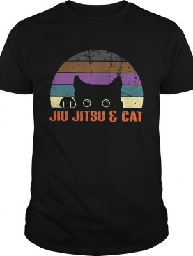 Jiu Jitsu and cat vintage shirt