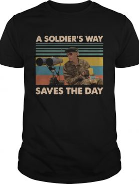 Mark Rumsfield A soldiers way saves the day vintage t-shirt