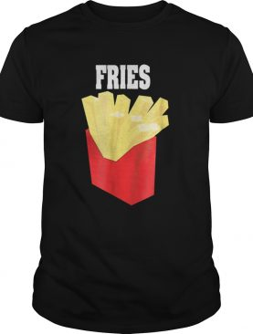 Nice French Fries Couples Halloween Costume Burger Fries shirt