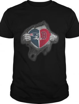 Patriots Redsoxs Its in my heart inside me shirt