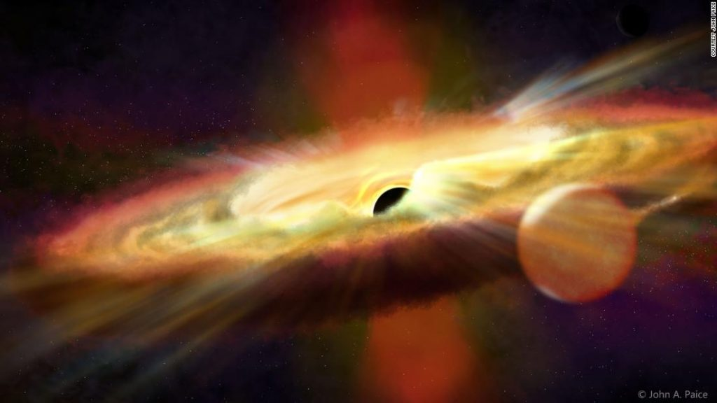 Repeating outbursts of 40,000-degree wind discovered near black hole