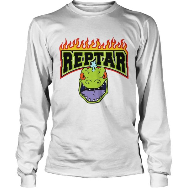 Reptar Fire Text With Reptars Head  LongSleeve