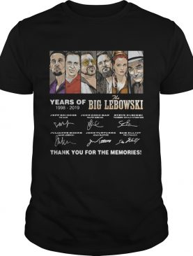 Years of The Big Lebowski 19982019 signatures shirt
