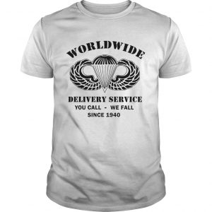 AirBorne Wings Logo Worldwide delivery service you call we call since 1940  Unisex