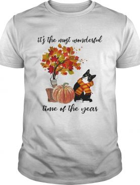 Bombay Cat Collie Its The Most Wonderful Time Of The Year Fall Autumn Maple Leaf Shirt