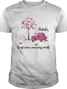 Car and tree October breast cancer awareness month shirt