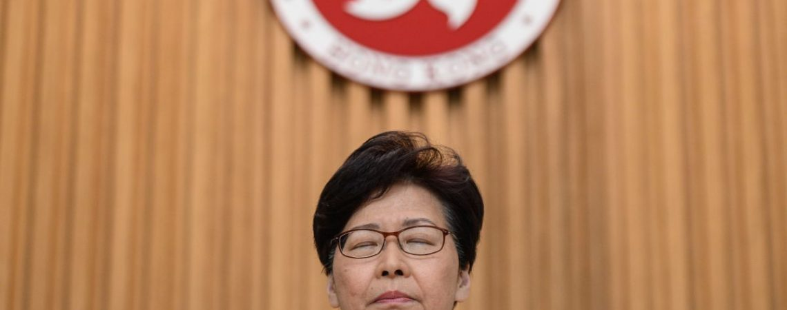 Carrie Lam says she'd quit as Hong Kong leader if she could according to leaked tape