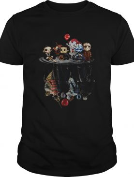 Chibi Horror Movies Characters Reflection Halloween shirt