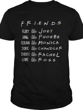 Friends Like Rachel Ross Joey Monica Chandler Phoebe TShirt