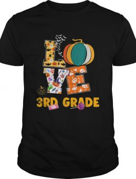 Halloween Love 3rd Grade Teacher Halloween Costume shirt