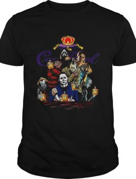 Horror character movie drink Crown Royal shirt