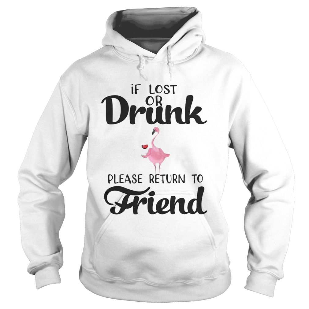 If Lost Or Drunk Please Return To Friend Flamingo Ts Hoodie