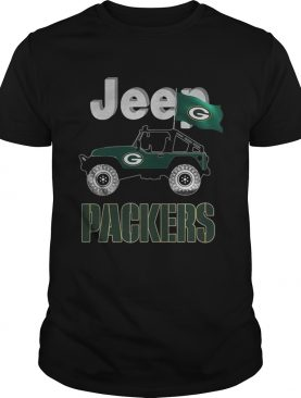 Jeep Green Bay Packers flag shirt
