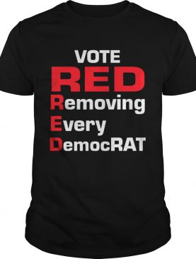 Oficial Vote red removing every democrat shirt