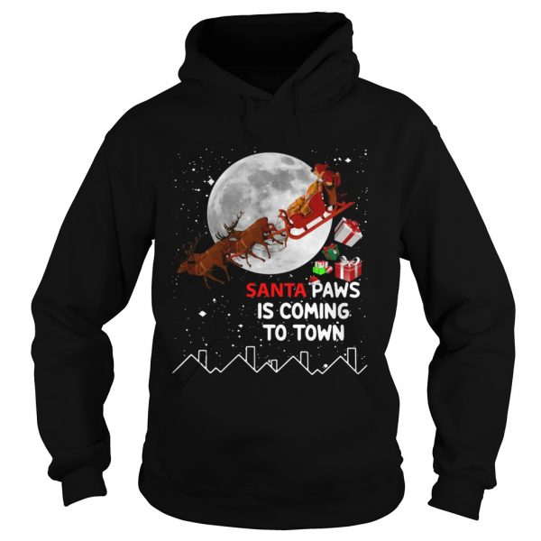 Santa Paws is coming to town  Hoodie