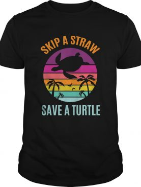 Skip The Plastic Straw to Save a Turtle Turtles Ocean Lover TShirt