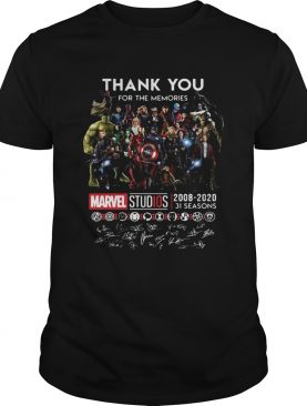 Thank you for the memories Marvel Studio all super heroes signed shirt
