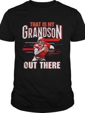 That is my grandson out there football shirt