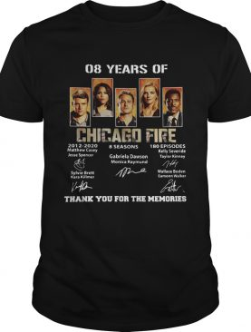 08 Years of Chicago Fire thank you for the memories signature shirt