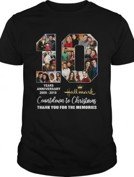 10 years anniversary Hallmark 2009 2019 Countdown to Christmas shirt