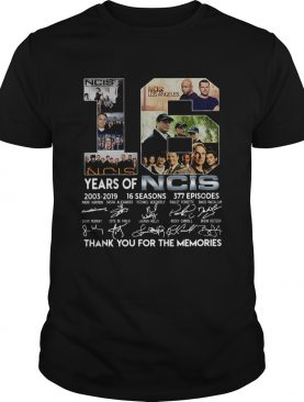 16 Years Of Ncis 20032019 16 Seasons 377 Episodes Thank You For The Memories Shirt