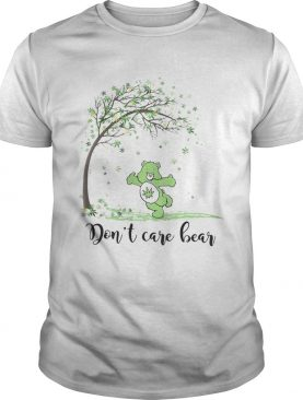Autumn weed tree dont care bear shirt