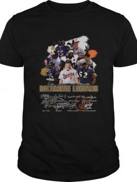 Baltimore Ravens Legends team player signatures shirt