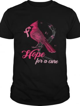 Cardinal Breast Cancer Awareness Hope For A Cure Shirt