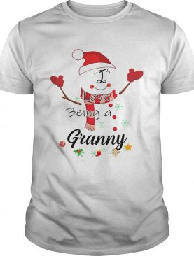 Christmas I Love Being A Granny Snowman TShirt