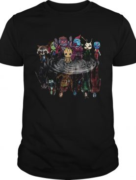Guardians of the Galaxy mirror reflection shirt