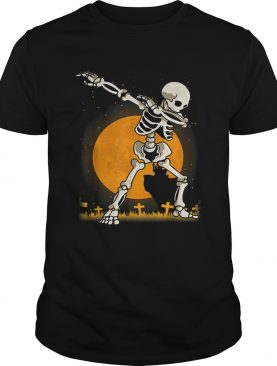 Halloween For Boys Kids Dabbing Skeleton Costume Dab shirt