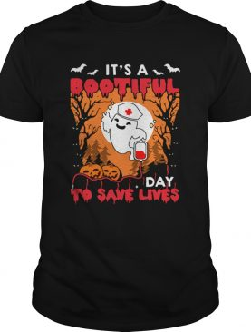 Halloween Nurse Its A Bootiful Day To Save Lives TShirt