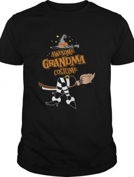 Halloween This Is My Awesome Grandma Costume Shirt