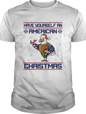 Have yourself an American Christmas White head eagle shirt