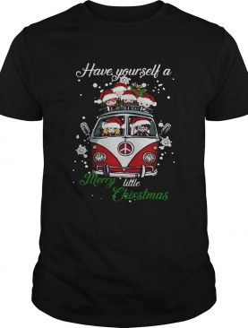 Hippie Harry Potter have yourself a merry little christmas tshirt