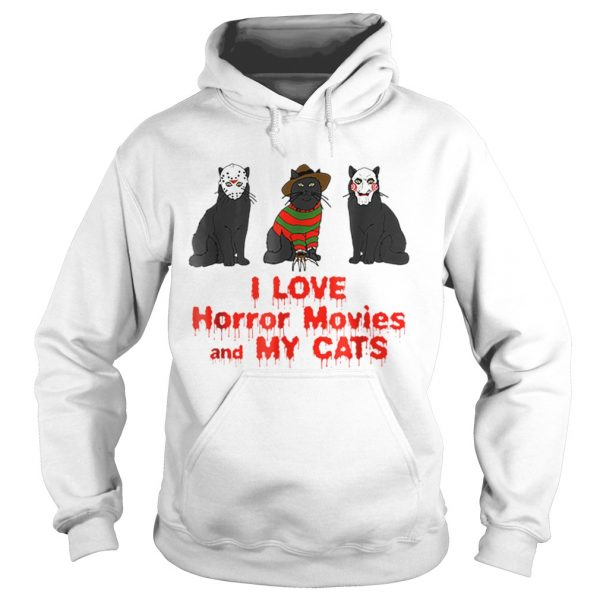 I Love Cats Horror Movie  Hoodie