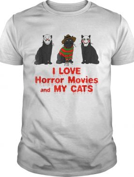 I Love Cats Horror Movie shirt