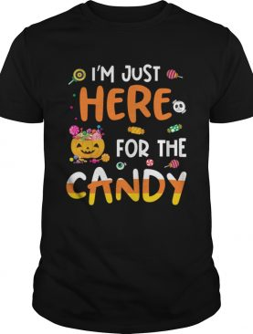 I am Just Here For The Candy Halloween T shirt Mens TShirt
