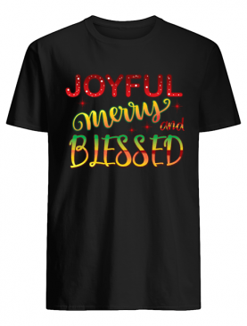 Joyful Merry and Blessed Christmas Cute Holiday Shirt