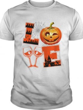 Men Women Halloween Love Wine TShirt
