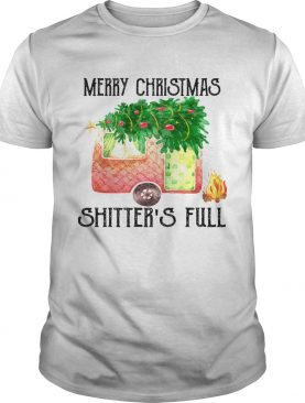 Merry Christmas Shitters Full Camping Lover Gift TShirt