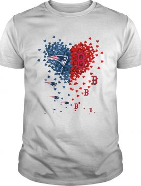 New England Patriots And Boston Red Sox Tiny Hearts Shape Shirt