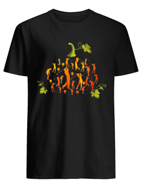 Pumpkin Golf Golfer Halloween Costume Gift Funny Tee shirt