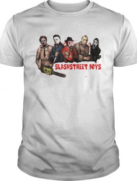 Slashstreet Boys horror movie characters shirt