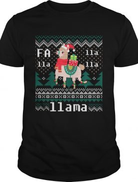 Ugly Christmas Sweater LLama Funny Holiday TShirt