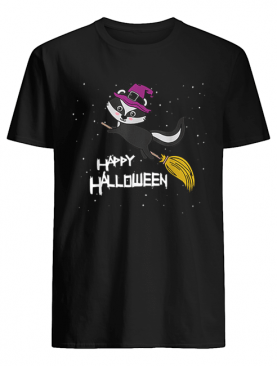 Witch Skunk Flying Broomstick Costume Cute Halloween Gift shirt