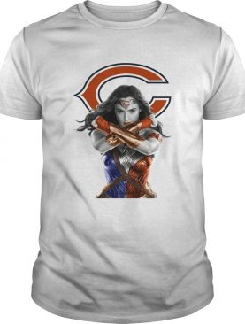 Wonder Woman and Chicago Bears shirt