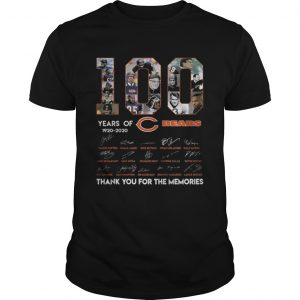 100 years of 19202020 Chicago Bears signatures  Unisex
